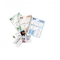 Scatola 100 pouches - 2x125mic - 81x119mm - swiss card - GBC