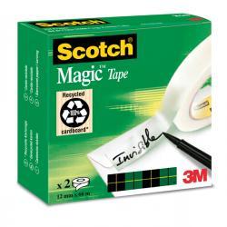 Nastro adesivo Scotch® Magic™ 810 - 12 mm x 66 mt - trasparente - Scotch® - scatola 2 rotoli