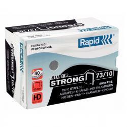 Punti Rapid Super Strong - 73/10 - acciaio zincato - metallo - Rapid - conf. 5000 pezzi