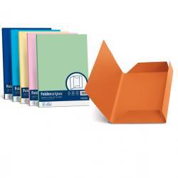 Cartelline 3 lembi Luce - 200 gr - 24,5x34,5 cm - arancio - Favini - conf. 25 pezzi