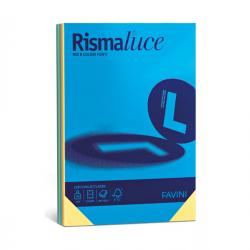 Carta Rismaluce - A3 - 90 gr - mix 8 colori - Favini - conf. 300 fogli