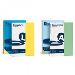 Carta Rismaluce - A4 - 200gr - mix 8 colori - Favini - conf. 125fg