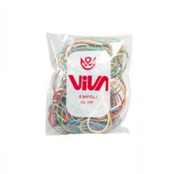 Elastici - gomma - misure e colori assortiti - Viva - busta da 100 gr