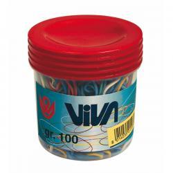 Elastici - gomma - misure e colori assortiti - Viva - barattolo da 100 gr