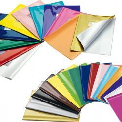 Coprimaxi laccato Colorosa - 21x30cm - PVC - blu - tasca con alette - Ri.plast