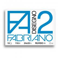 Album F2 - 24x33cm - 110gr - 10 fogli - ruvido - punto metallo - Fabriano