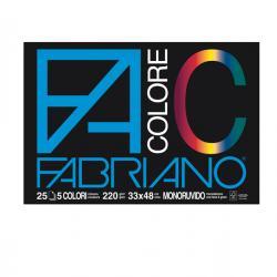 Blocco FaColore - 330x480mm - 25fg - 220gr - 5 colori - Fabriano