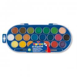 Pastiglie Acquerelli - ø 30mm - colori assortiti - Primo - astuccio da 22 pastiglie