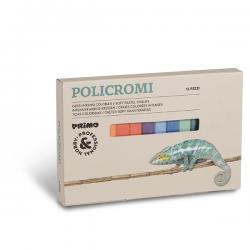 Scatola 12 gessi policromi - quadrati - 13x13x80mm - Primo