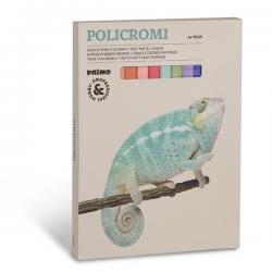 Scatola 24 gessi policromi - quadrati - 13x13x80mm - Primo
