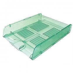 Vaschetta portacorrispondenza TR25310 - 26x34x6 cm - verde trasparente - Arda