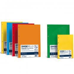 Separatori Dividerello - cartoncino colorato 220 gr - 21x29.7 cm - mix 5 colori - Favini - conf. 10 pezzi