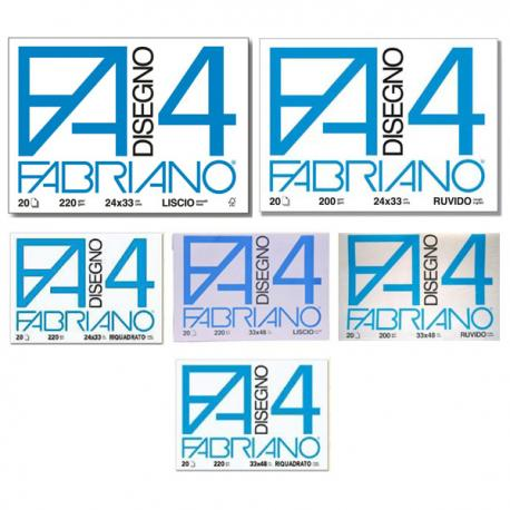 Album F4 - 24x33cm - 200gr - 20 fogli - ruvido - Fabriano
