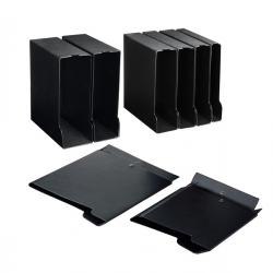 Custodia per raccoglitori 50 - 29,5x31,5 cm - dorso 8 cm - nero - Sei rota