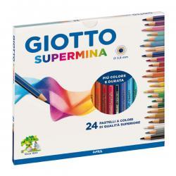 Astuccio 24 pastelli colorati Supermina - esagonali - Giotto