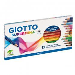 Astuccio 12 pastelli colorati Supermina - esagonali - Giotto