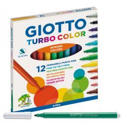Pennarelli Turbo Color - punta ø2,8mm - colori assortiti - Giotto - astuccio 12 pezzi
