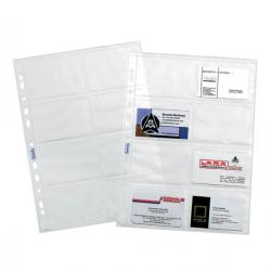 Buste forate Portabiglietti - 8 Tasche - 22,2x31,2 cm - trasparente - Favorit - conf. 10 pezzi