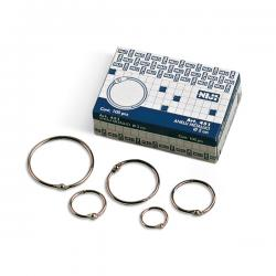 Anelli metallici - 2 cm - per rilegatura - Lebez - conf. 100 pezzi