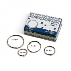Anelli metallici - 4 cm - per rilegatura - Lebez - conf. 100 pezzi