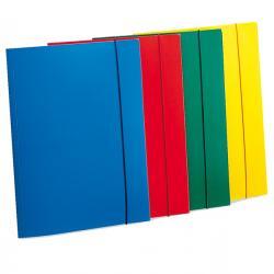 Cartellina con elastico - PPL - 3 lembi - 23,5x34,5 cm - azzurro - Fellowes