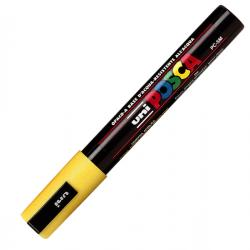 Marcatore Uni Posca PC5M - giallo - punta media da 1,8 a 2,5mm - Uni Mitsubishi