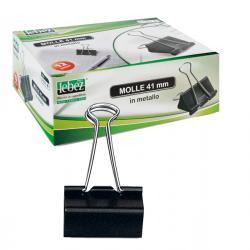 Molle Double Clips - 19 mm - nero - Lebez - conf. 12 pezzi