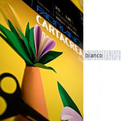 Cartoncino Cartacrea - 35x50cm - 220gr - bianco 100 - Fabriano - Conf.10 fogli