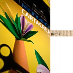 Cartoncino CartaCrea - 35x50cm - 220gr - panna - Fabriano - blister 10 fogli