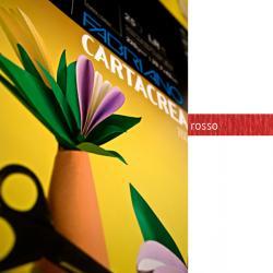 Cartoncino CartaCrea - 35x50cm - 220gr - rosso 109 - Fabriano - blister 10 fogli