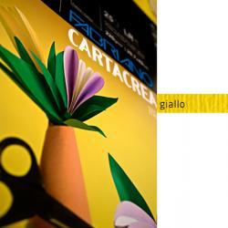 Cartoncino CartaCrea - 35x50cm - 220gr - giallo 107 - Fabriano - blister 10 fogli