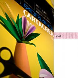 Cartoncino CartaCrea - 35x50cm - 220gr - rosa 116 - Fabriano - Conf.10 fogli
