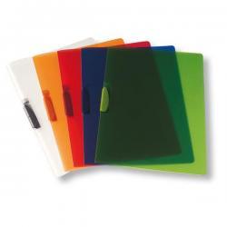 Cartellina con molla Clipper - 22x30 cm - trasparente verde - Fellowes