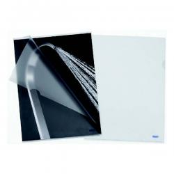 Cartelline a L Pratic - Linear - PPL - buccia - 22x30 cm - trasparente - Favorit - conf. 50 pezzi