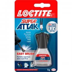 Colla Super Attak Easy Brush - 5 gr - trasparente - Loctite
