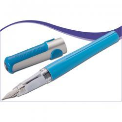 Penna stilografica ricaricabile Pelikano - punta fine - fusto blu - Pelikan