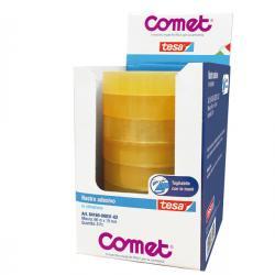 Nastro adesivo - 66 mt x 19 mm - cellophane - trasparente - Comet