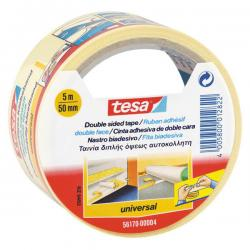 Nastro biadesivo - 5 mt x 50 mm - taglio facilitato - bianco -Tesa®