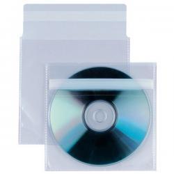 Buste a sacco Insert CD A - patella di chiusura - striscia adesiva - PP - 12.5x12 cm - Sei Rota - conf. 25 pezzi