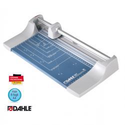 Taglierina a rullo Hobby 507 - A4 - 320 mm - taglio lineare - capacità taglio 8fg - grigio/blu - Dahle