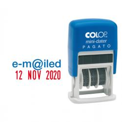Timbro Mini Dater S160/L1 Datario + REGISTRATO - 4 mm - autoinchiostrante - Colop®