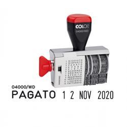 Timbro 04000/WD datario + Polinomio - 12 diciture 4 mm - Colop®