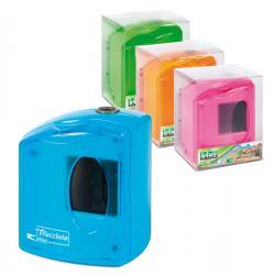 Temperamatite elettrico 4310 con contenitore - 1 foro - colori assortiti - Lebez