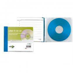 Porta CD/DVD personalizzabile Uno Ti CD - 10 tasche - 125x120 mm - Sei Rota