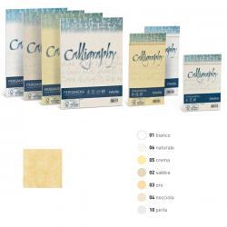 Carta Calligraphy Pergamena - 90gr - A4 - sabbia 02 - Favini - conf. 50fg
