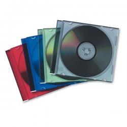 Custodia per CD Jewel Case Slim - colori trasparenti assortiti - Fellowes - scatola da 25 pezzi