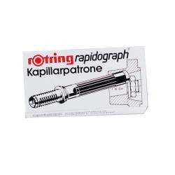 Scatola 3 cartucce capillari per penne Rapidograph - blu - Rotring