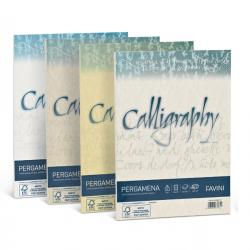Carta Calligraphy pergamena - A4 - 190 gr - bianco 01 - Favini - conf. 50 fogli