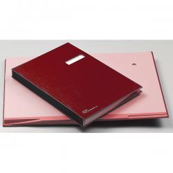 Libro firma - 14 intercalari rinforzati - 24x34 cm - rosso - Fraschini