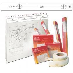 Banda appendidisegni S885504 - 55mm - 50metri - pvc bianco opaco - 3L